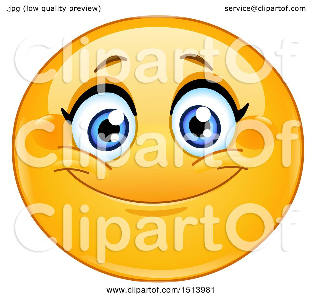 hight resolution of 1080x1024 clipart of a yellow female emoji face smiling
