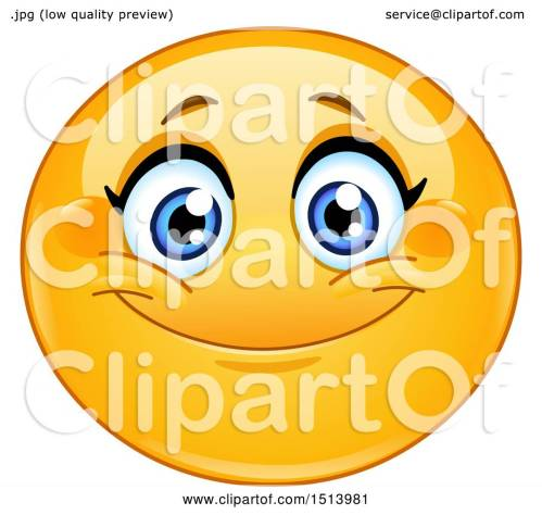 small resolution of 1080x1024 clipart of a yellow female emoji face smiling