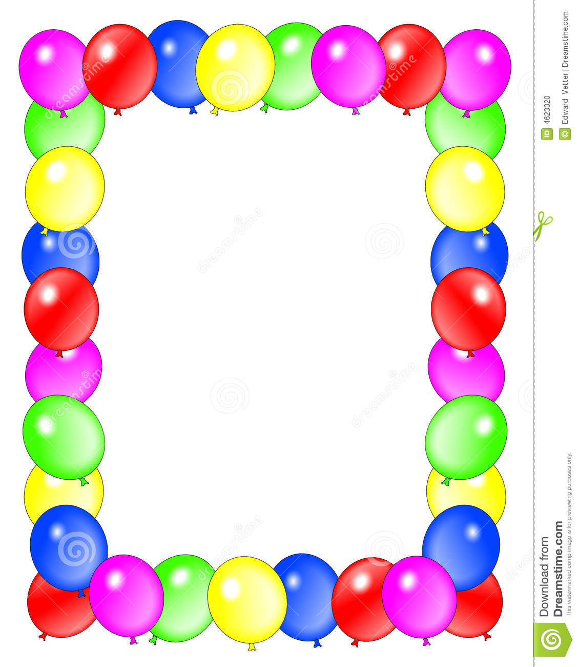 image about Birthday Clipart Free Printable named no cost printable birthday borders and frames