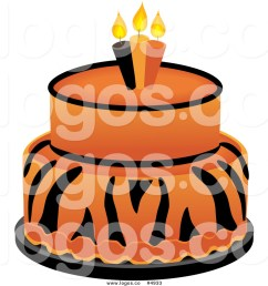 1024x1044 royalty free vector of a tiger cake logo by pams clipart [ 1024 x 1044 Pixel ]