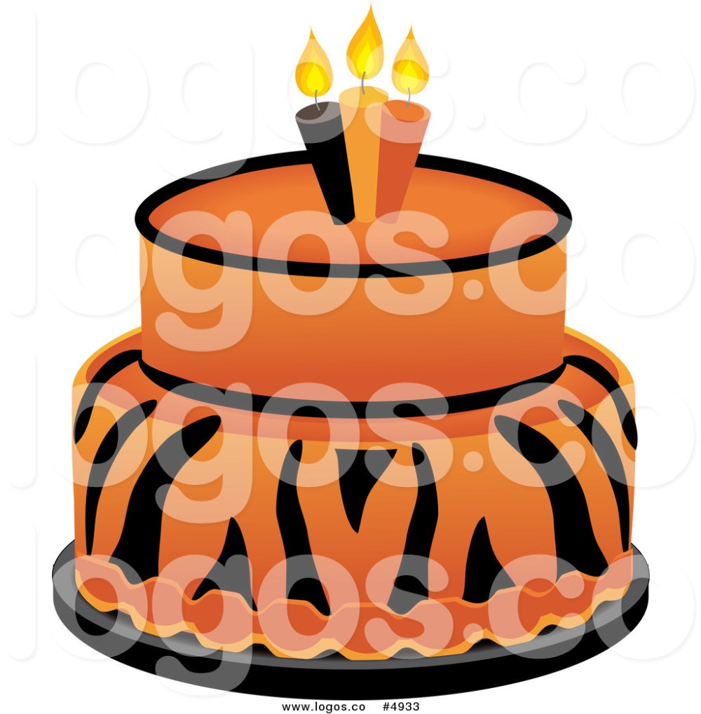 medium resolution of 1024x1044 royalty free vector of a tiger cake logo by pams clipart
