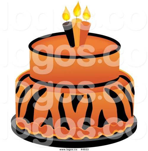 small resolution of 1024x1044 royalty free vector of a tiger cake logo by pams clipart