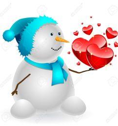 1300x1300 heart clipart snowman [ 1300 x 1300 Pixel ]