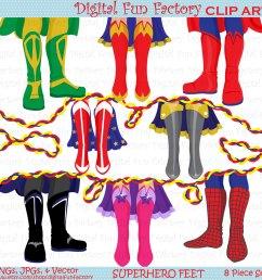 1500x1500 superhero clip art shoe feet superhero clipart kids clip art [ 1500 x 1500 Pixel ]