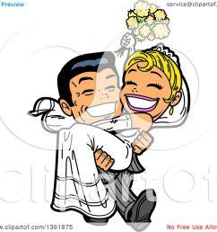 1080x1024 clipart of a cartoon happy wedding groom carrying his bride [ 1080 x 1024 Pixel ]