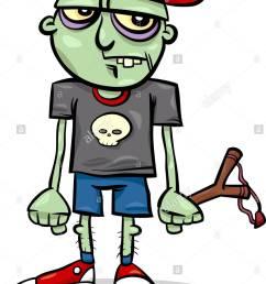 982x1390 cartoon illustration of spooky halloween ugly zombie kid stock [ 982 x 1390 Pixel ]