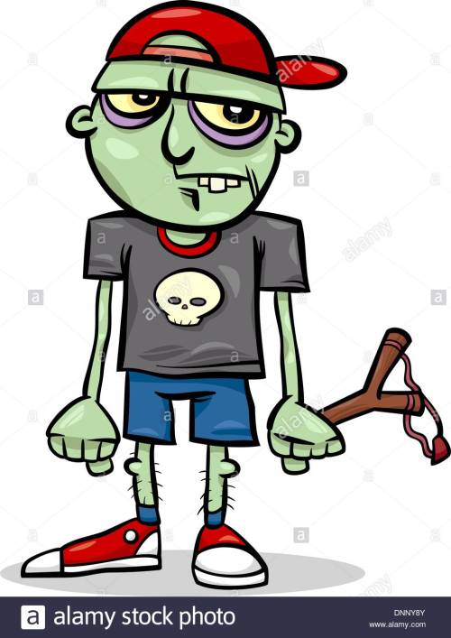 small resolution of 982x1390 cartoon illustration of spooky halloween ugly zombie kid stock