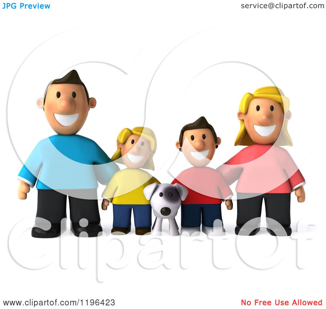 hight resolution of 1080x1024 cartoon of a 3d happy family with a dog