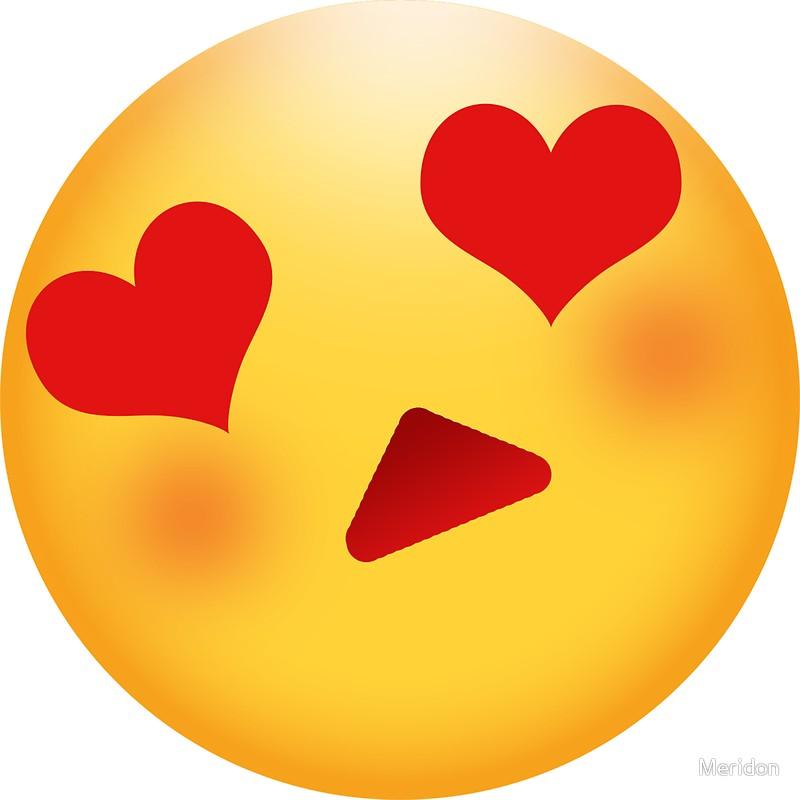heart eyes emoji clipart