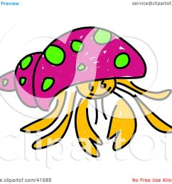 1080x1024 clipart illustration of a sketched pink hermit crab by prawny [ 1080 x 1024 Pixel ]