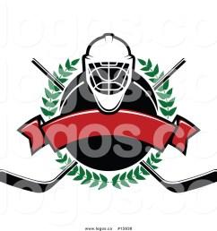 1024x1044 royalty free vector logo of a ice hockey laurel wreath banner [ 1024 x 1044 Pixel ]