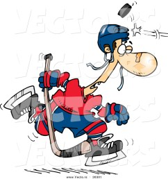 1024x1044 vector of a cartoon puck hitting a hockey player on the head by [ 1024 x 1044 Pixel ]
