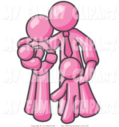 1024x1044 clip art of a happy pink family man a father hugging his wife [ 1024 x 1044 Pixel ]