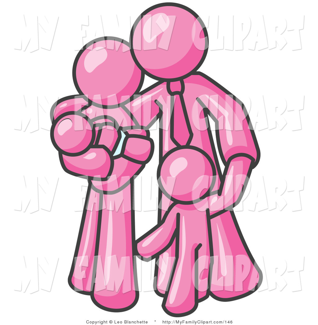 hight resolution of 1024x1044 clip art of a happy pink family man a father hugging his wife