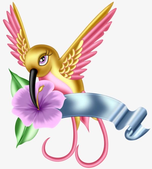 hummingbird and flower clipart