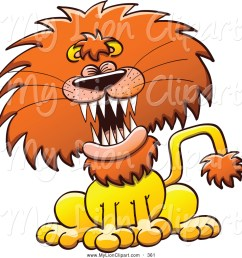 1024x1044 clipart of a frightening lion laughing or roaring by zooco [ 1024 x 1044 Pixel ]