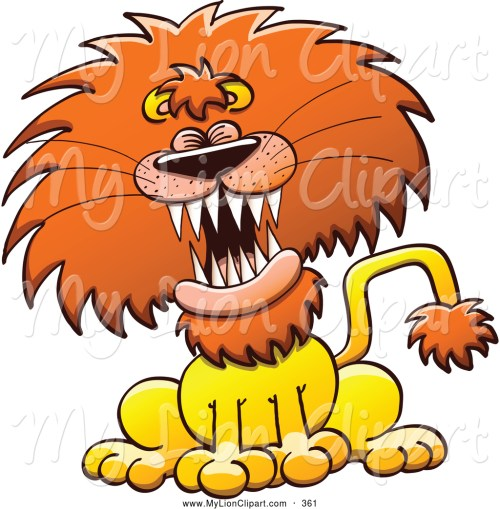 small resolution of 1024x1044 clipart of a frightening lion laughing or roaring by zooco