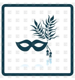 1200x1200 two masquerade mask with feather royalty free vector clip art [ 1200 x 1200 Pixel ]