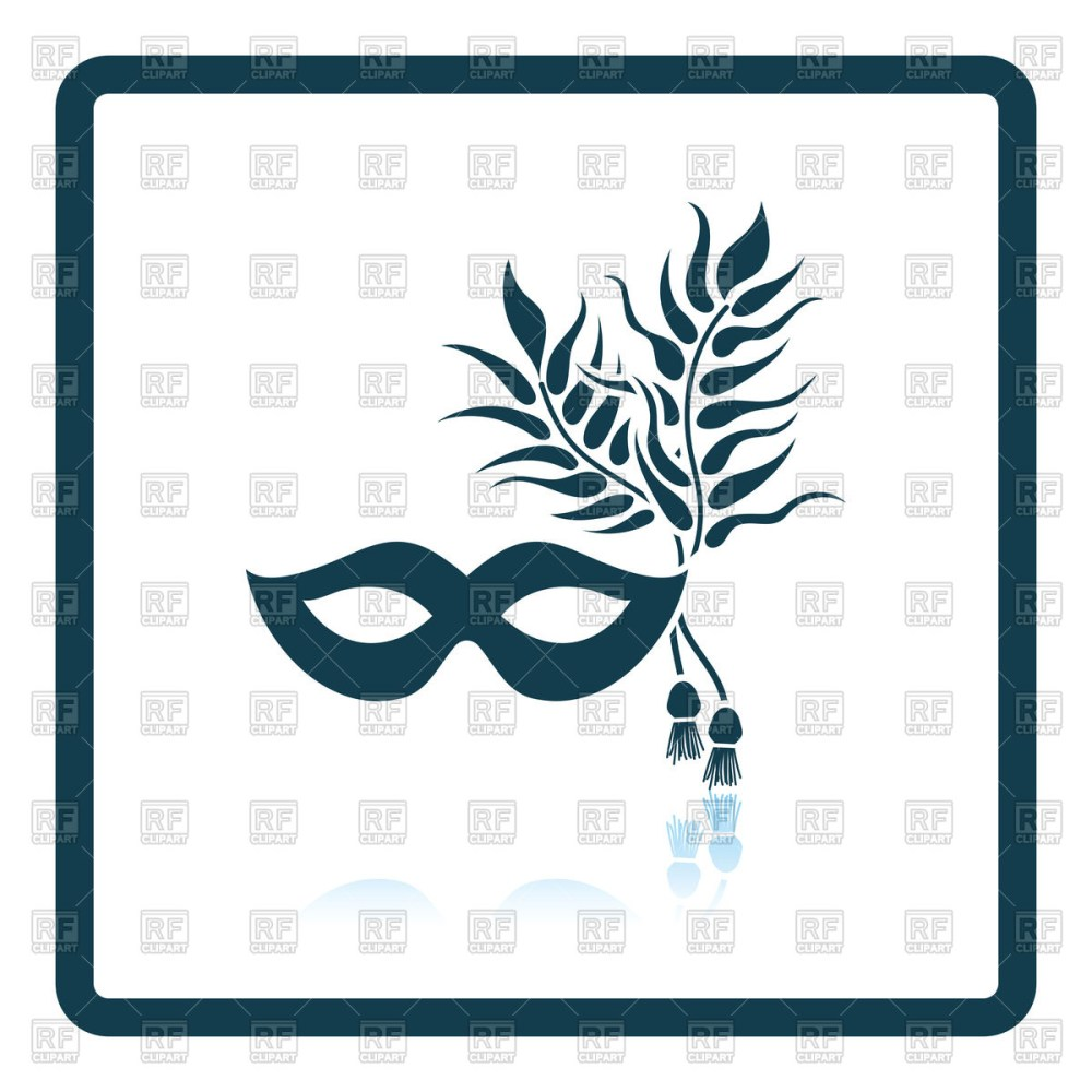 medium resolution of 1200x1200 two masquerade mask with feather royalty free vector clip art