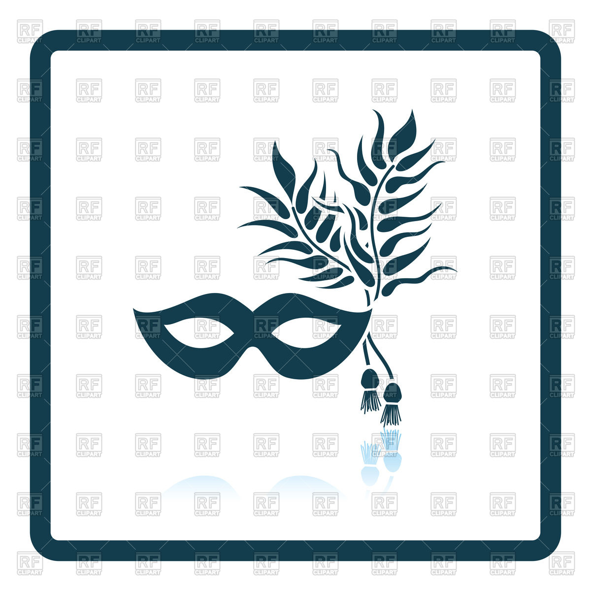 hight resolution of 1200x1200 two masquerade mask with feather royalty free vector clip art