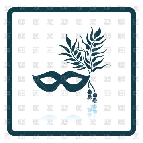 small resolution of 1200x1200 two masquerade mask with feather royalty free vector clip art