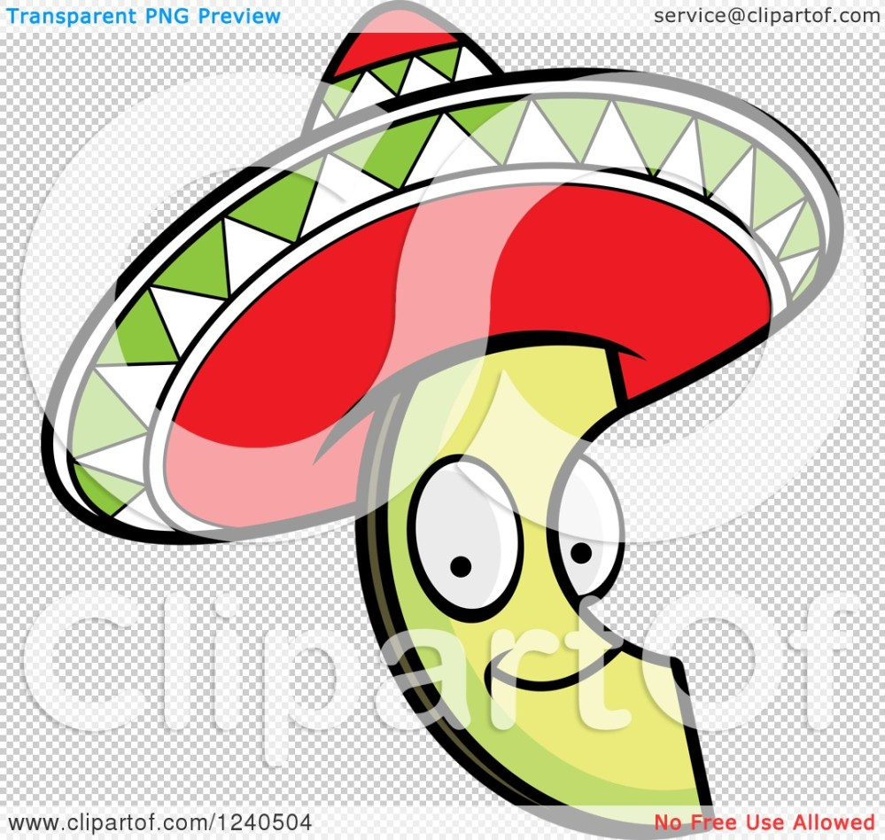 medium resolution of 1080x1024 clipart of a happy mexican avocado slice with a sombrero hat