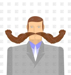 1200x1200 man with long mustache royalty free vector clip art image [ 1200 x 1200 Pixel ]
