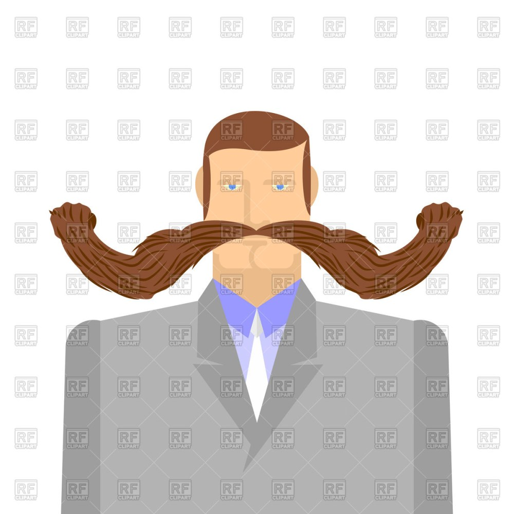 medium resolution of 1200x1200 man with long mustache royalty free vector clip art image