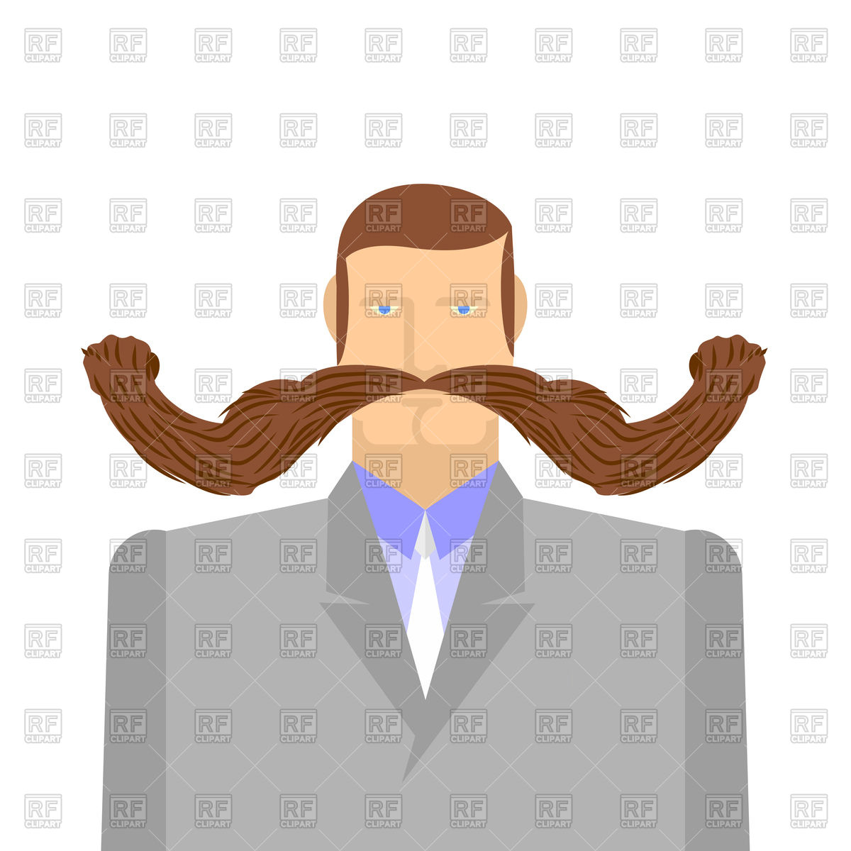 hight resolution of 1200x1200 man with long mustache royalty free vector clip art image