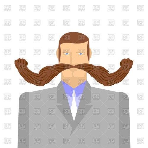 small resolution of 1200x1200 man with long mustache royalty free vector clip art image