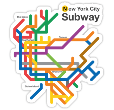 new york city subway diagram 2 lights one switch wiring nyc clipart at getdrawings com free for personal use 375x360 stickers by shbubble1 redbubble