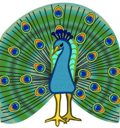 2400x2400 clip art peacock clipartfest 3 [ 2400 x 2400 Pixel ]