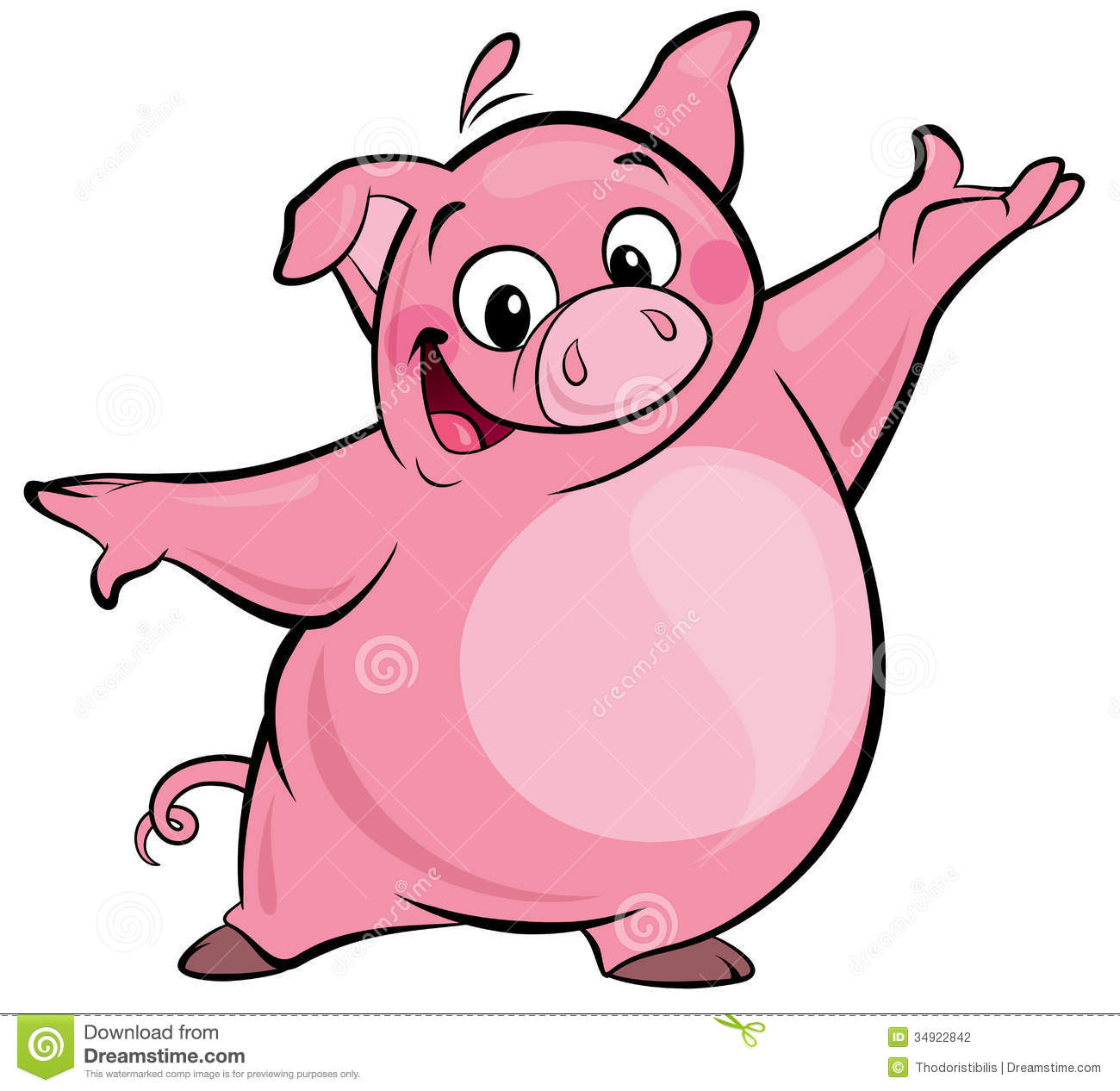 hight resolution of pig clipart