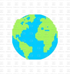 1200x1200 planet earth cartoon style royalty free vector clip art image [ 1200 x 1200 Pixel ]