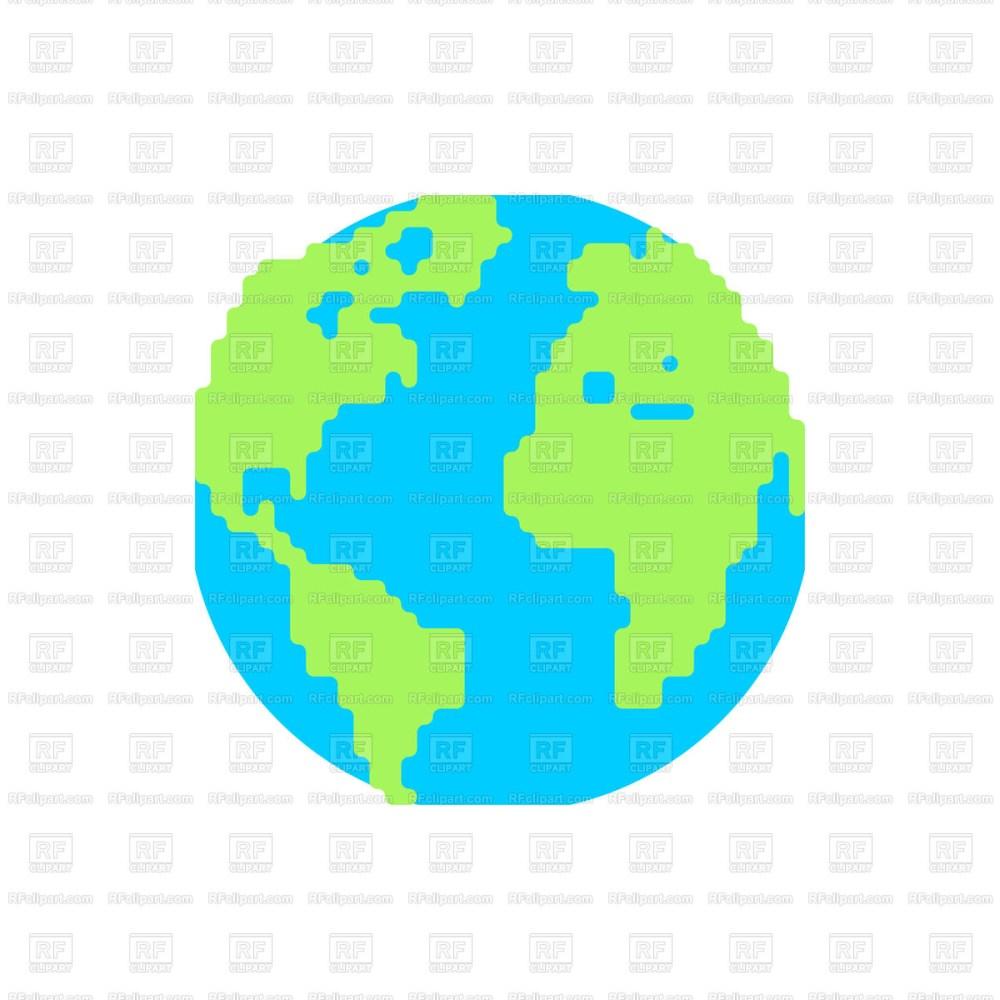medium resolution of 1200x1200 planet earth cartoon style royalty free vector clip art image