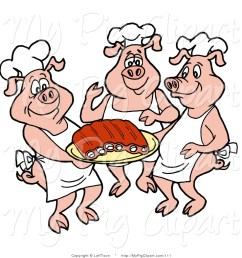 1024x1044 swine clipart of three chef pigs in white hats and aprons [ 1024 x 1044 Pixel ]