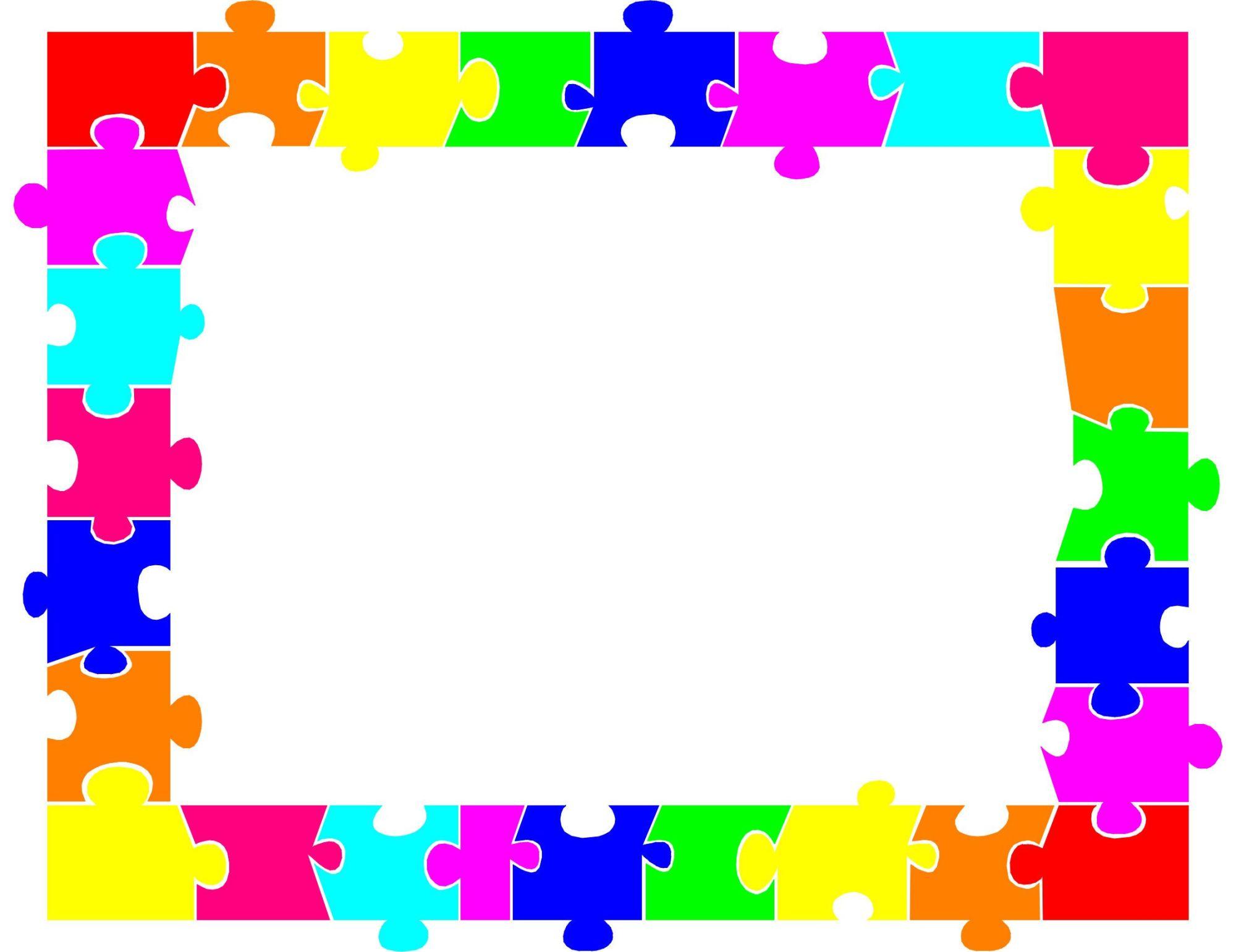 hight resolution of 2249x1733 autism puzzle piece border clip art ideias autism