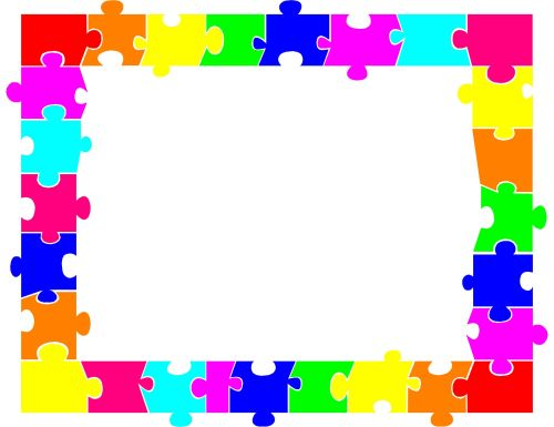 small resolution of 2249x1733 autism puzzle piece border clip art ideias autism