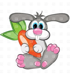 1200x1200 rabbit with a giant carrot royalty free vector clip art image [ 1200 x 1200 Pixel ]