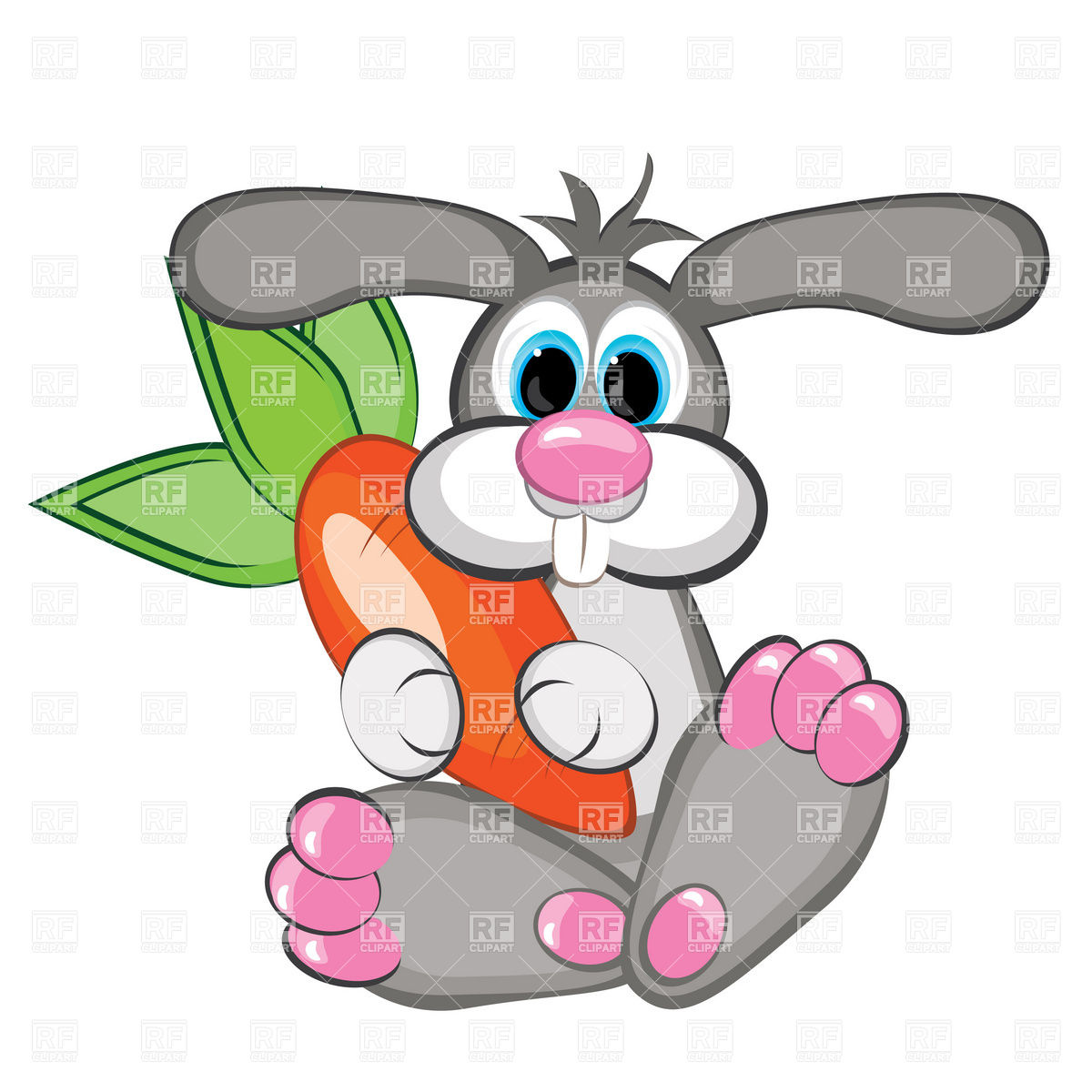 hight resolution of 1200x1200 rabbit with a giant carrot royalty free vector clip art image