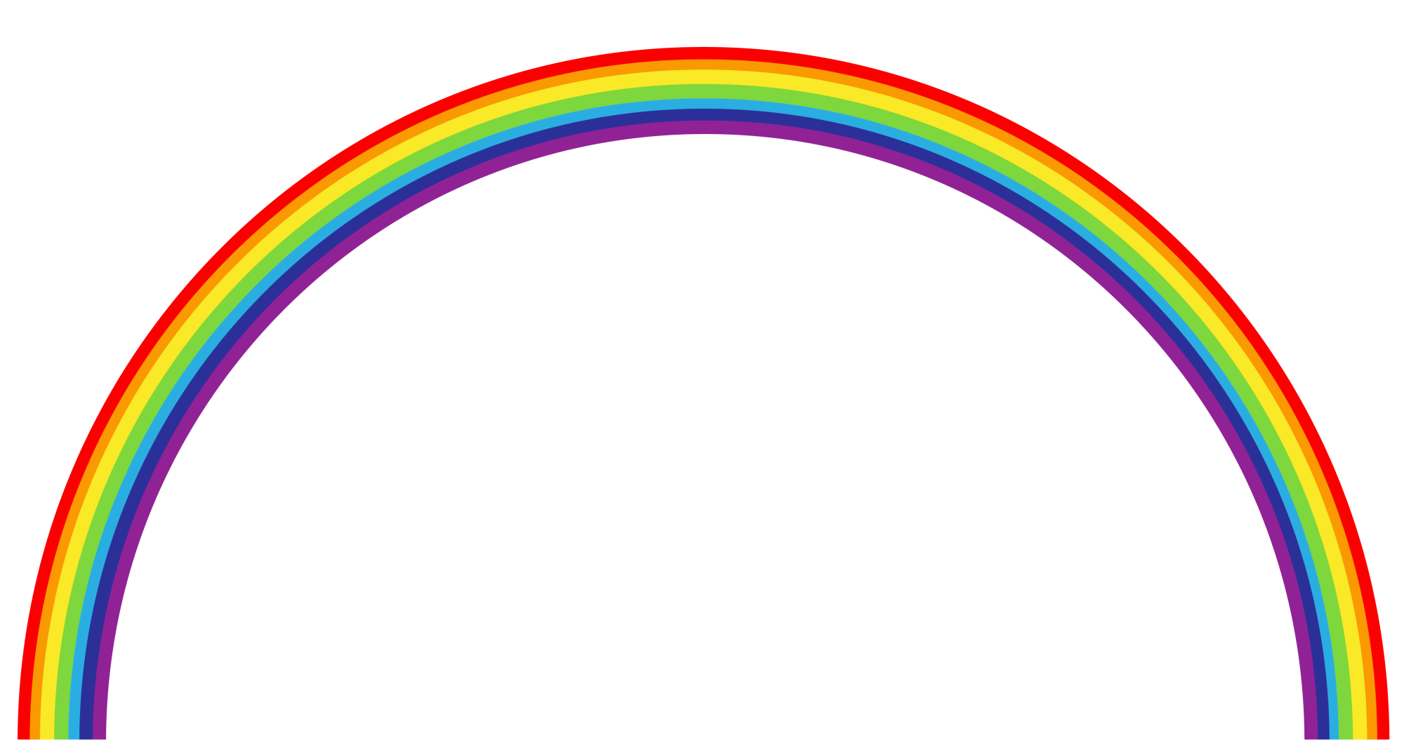 hight resolution of 4511x2380 rainbow clip art free clipart images 7