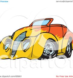 1080x1024 royalty free rf clipart illustration of an orange convertible [ 1080 x 1024 Pixel ]