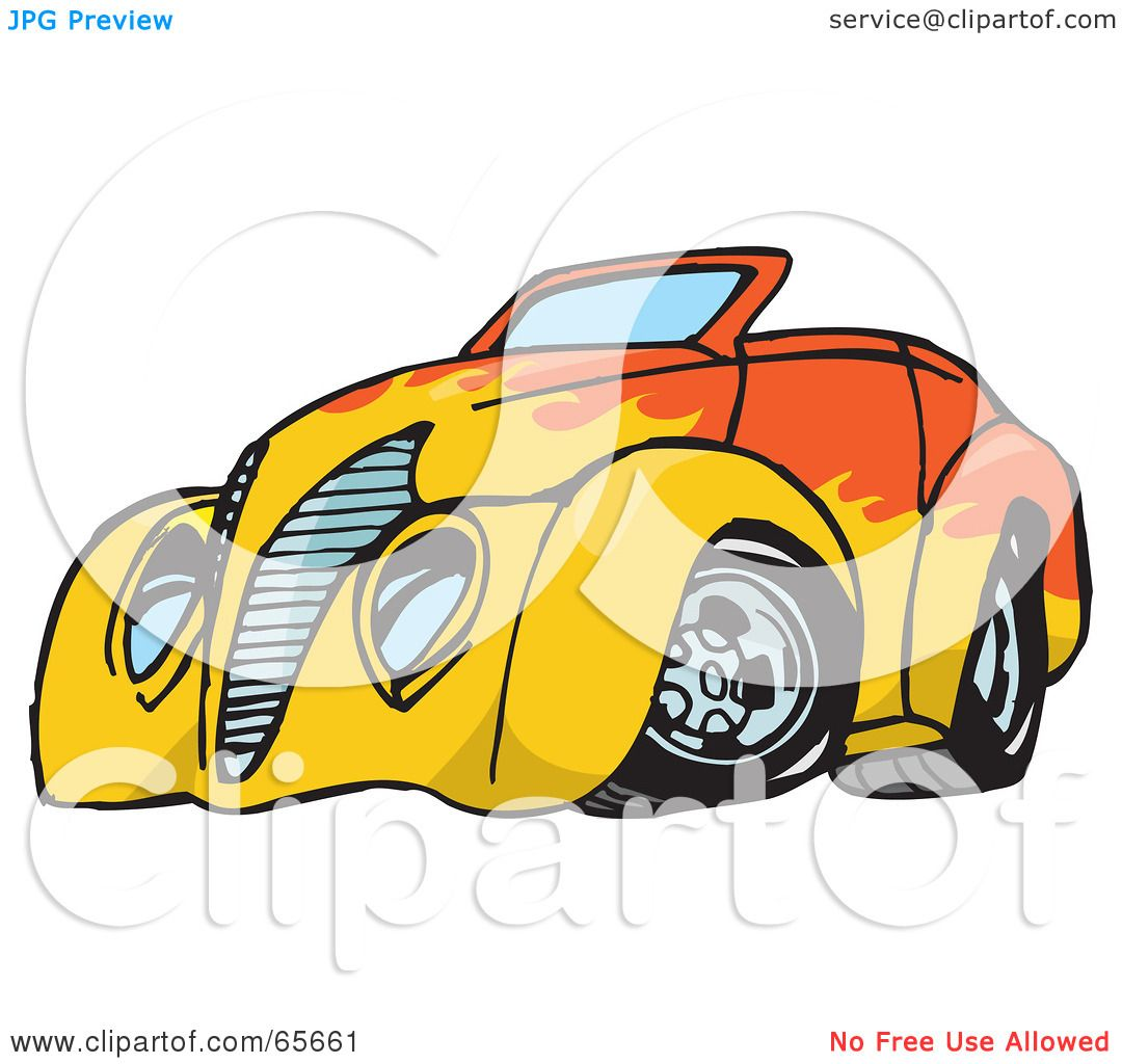 hight resolution of 1080x1024 royalty free rf clipart illustration of an orange convertible