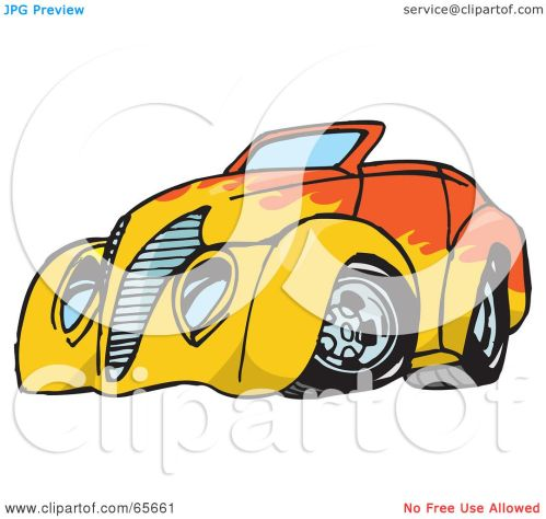 small resolution of 1080x1024 royalty free rf clipart illustration of an orange convertible