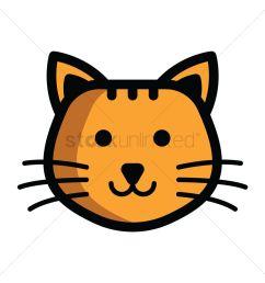 1300x1300 cat s head clipart gray clip art image [ 1300 x 1300 Pixel ]