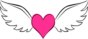 heart tattoo simple designs transparent background clipart winged template digital clip tattoos paste pink scrapping don cliparts format things eat