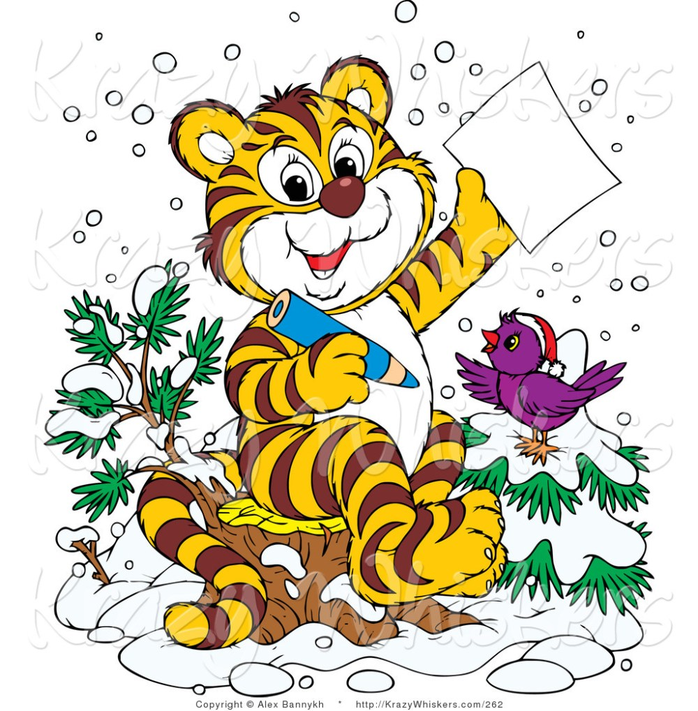 medium resolution of 1024x1044 critter clipart of happy purple bird in the snow wearing