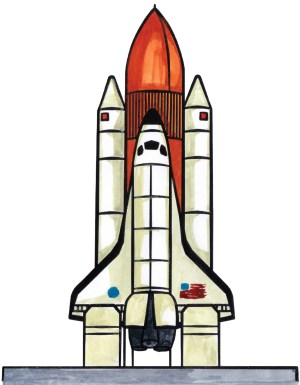 shuttle space ship drawing draw clipart drawings rocket simple modern spaceship times spacecraft nasa rover ships station getdrawings theme sent