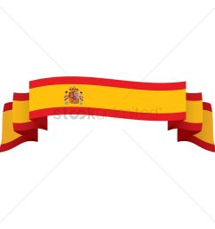 1300x1300 spain flag ribbon vector image [ 1300 x 1300 Pixel ]