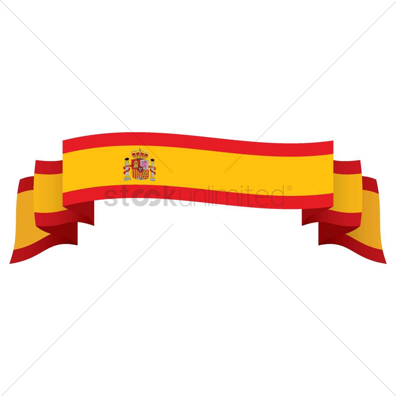 hight resolution of 1300x1300 spain flag ribbon vector image